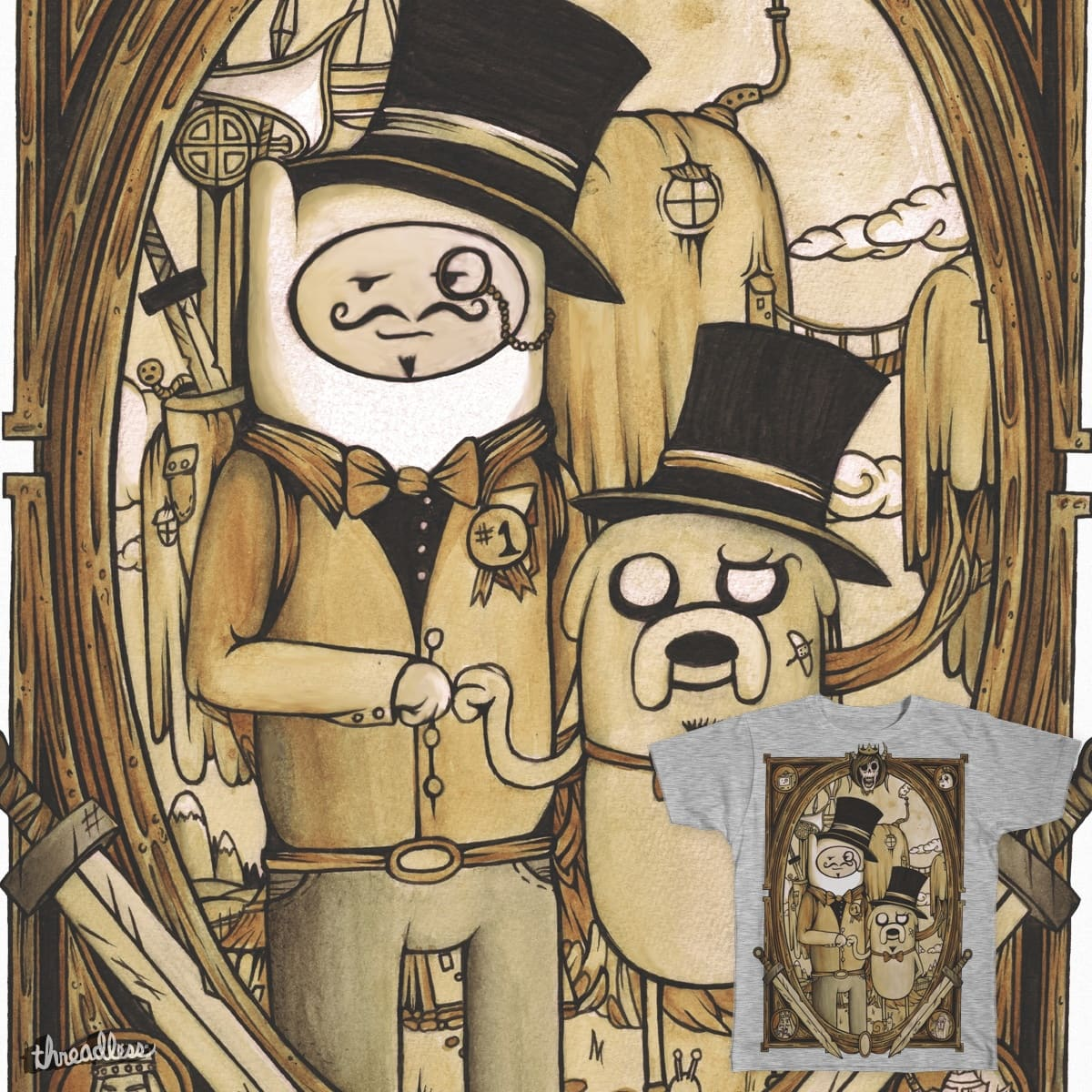 Gentlemen of Adventure by EyesOnFire on Threadless