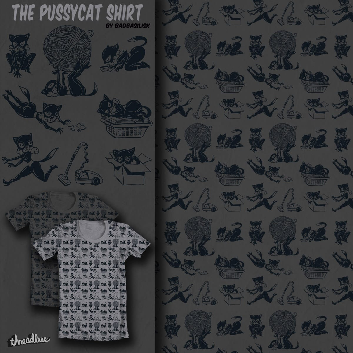The Pussycat Shirt by badbasilisk on Threadless