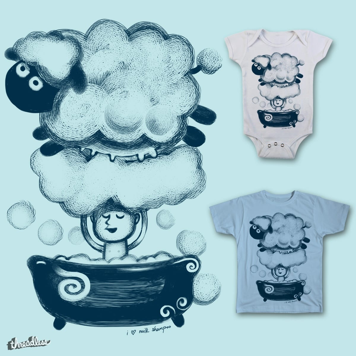 i love milk shampoo by okok on Threadless