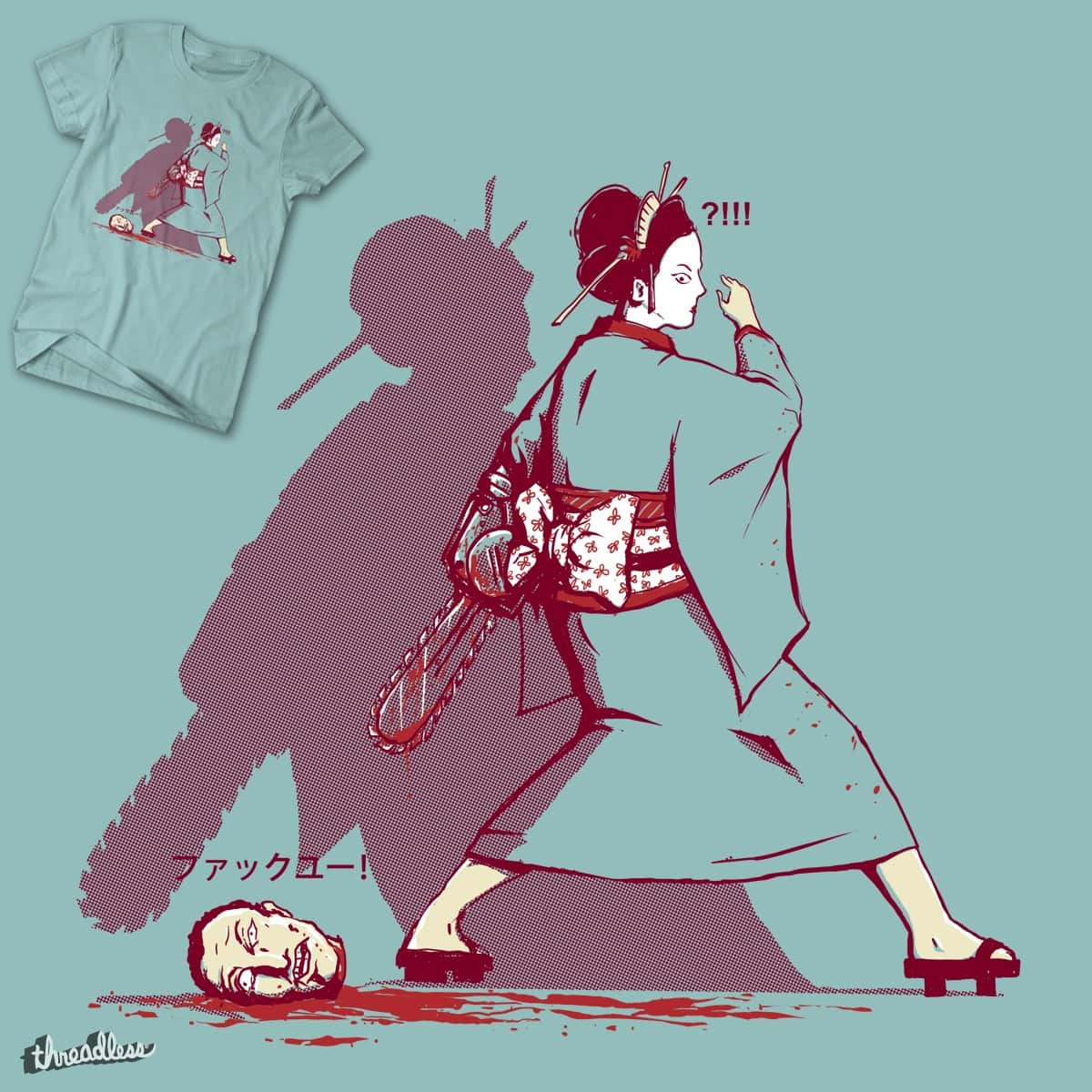 Gore Geisha by Doodle by Ninja! on Threadless