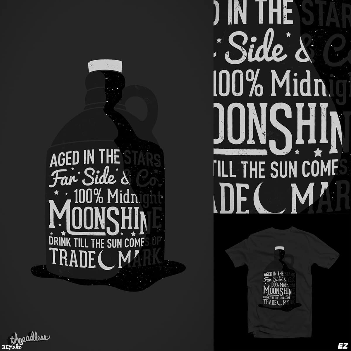 Midnight Moonshine by EZFL and JIMDAHOUSECAT on Threadless