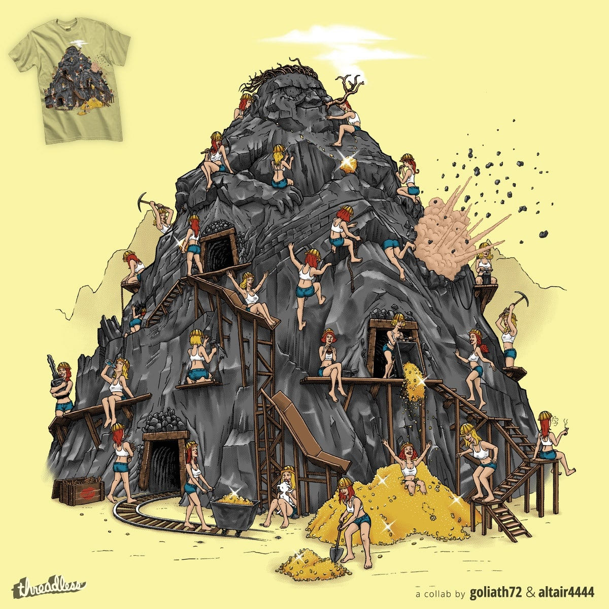 Gold Diggers by ersinerturk and goliath72 on Threadless