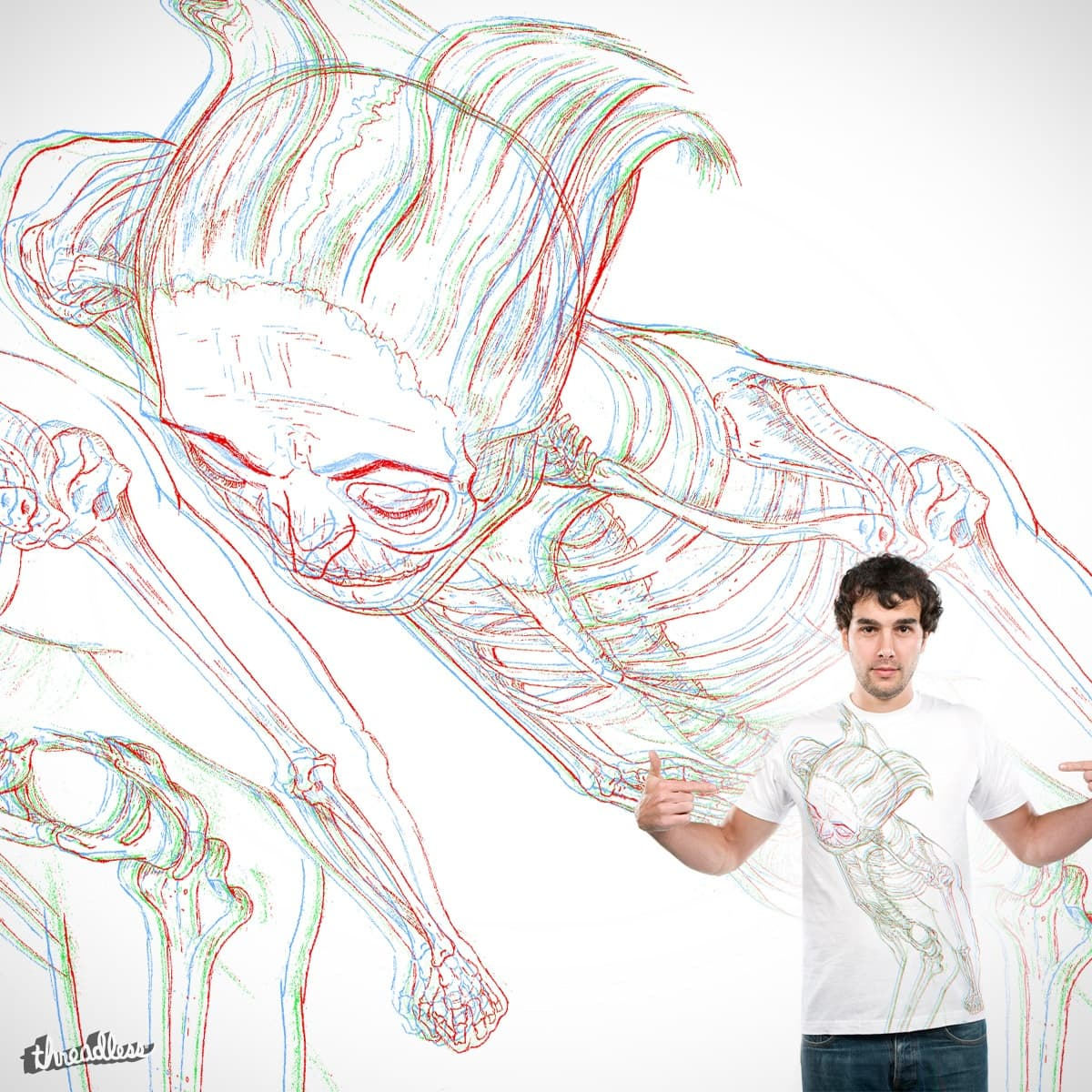 3D Anatomy  by malcolm.man on Threadless