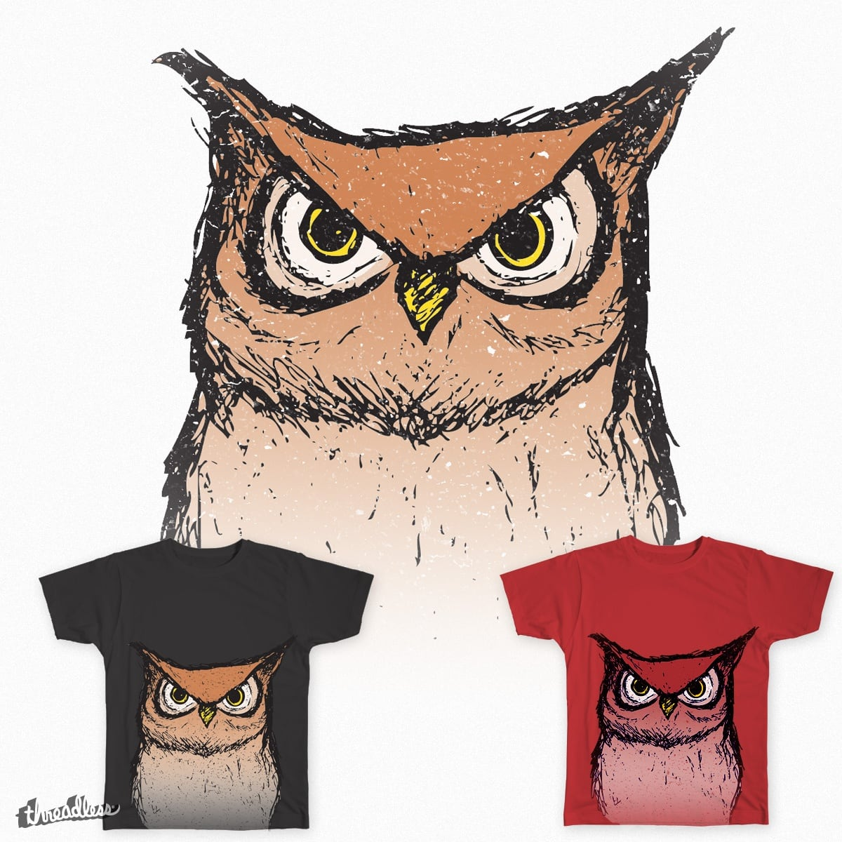 Hoo are you lookin' at? by Sparrow_11 on Threadless