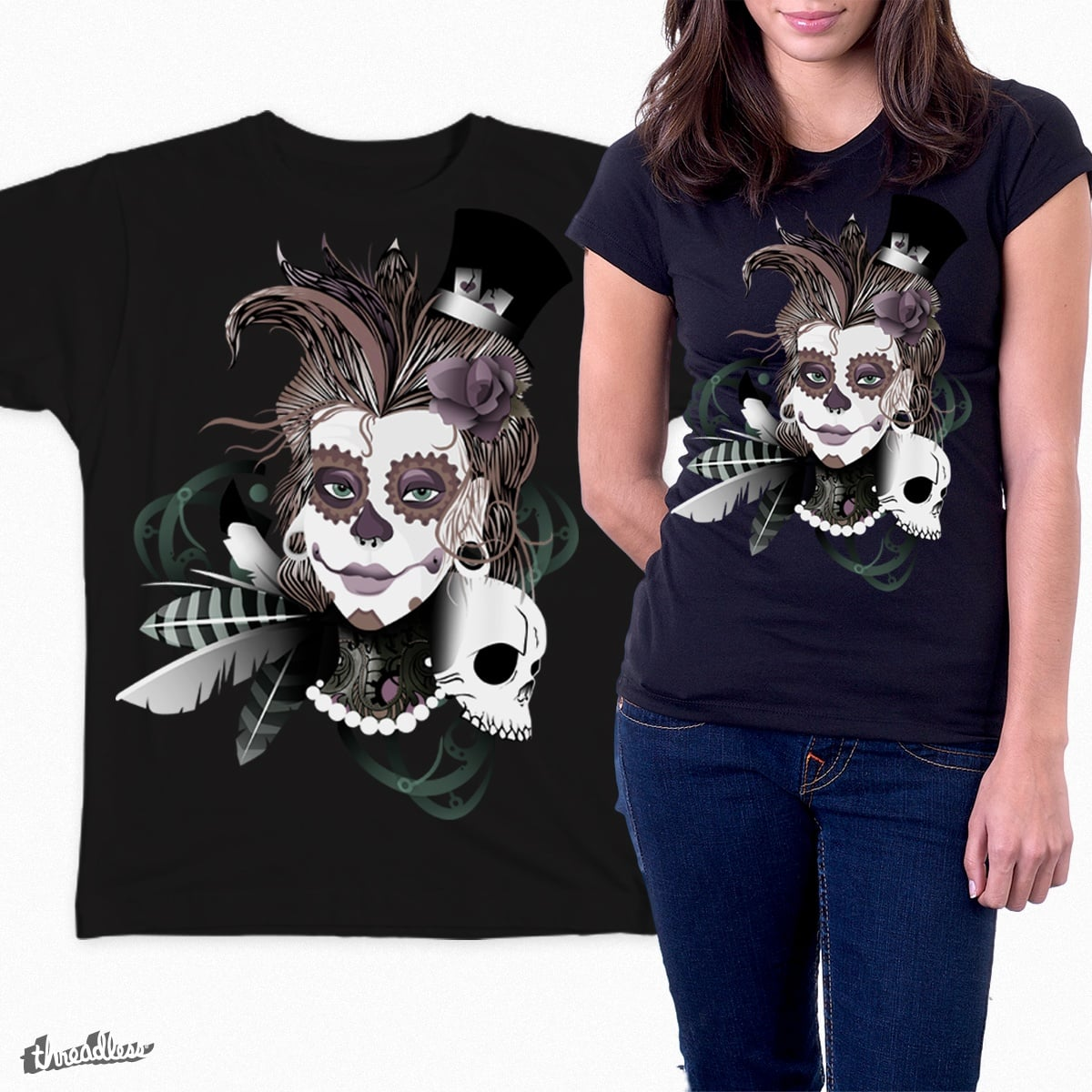 Dia de los muertos  by SpiritedCoast on Threadless