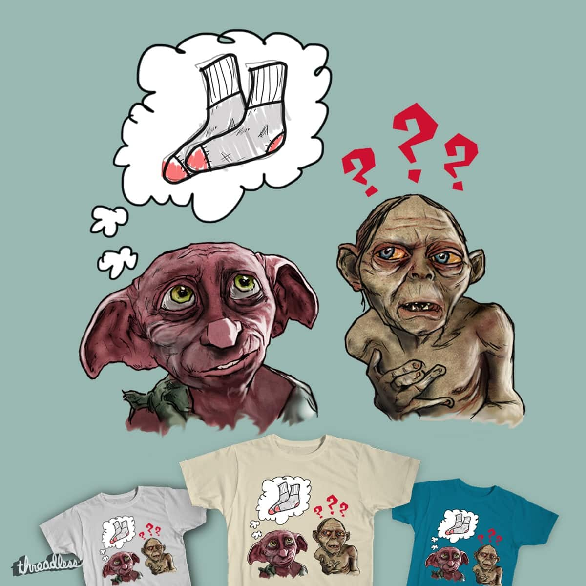 Precious = Socks??? by seejayjawn5 on Threadless