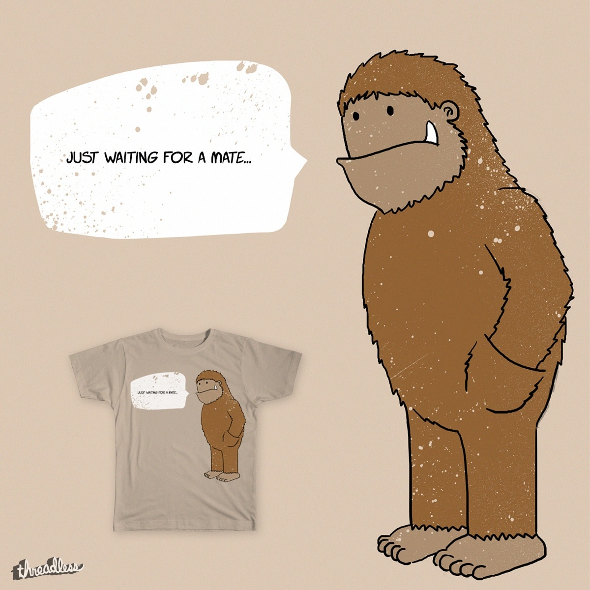 Just waiting for a mate... by LoudMinds2016 on Threadless