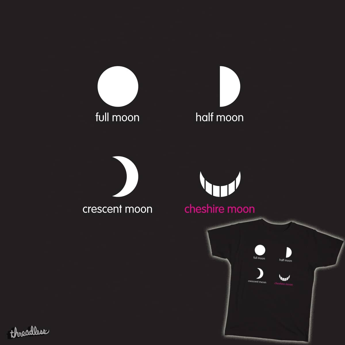 Cheshire Moon by TedDastickJr on Threadless