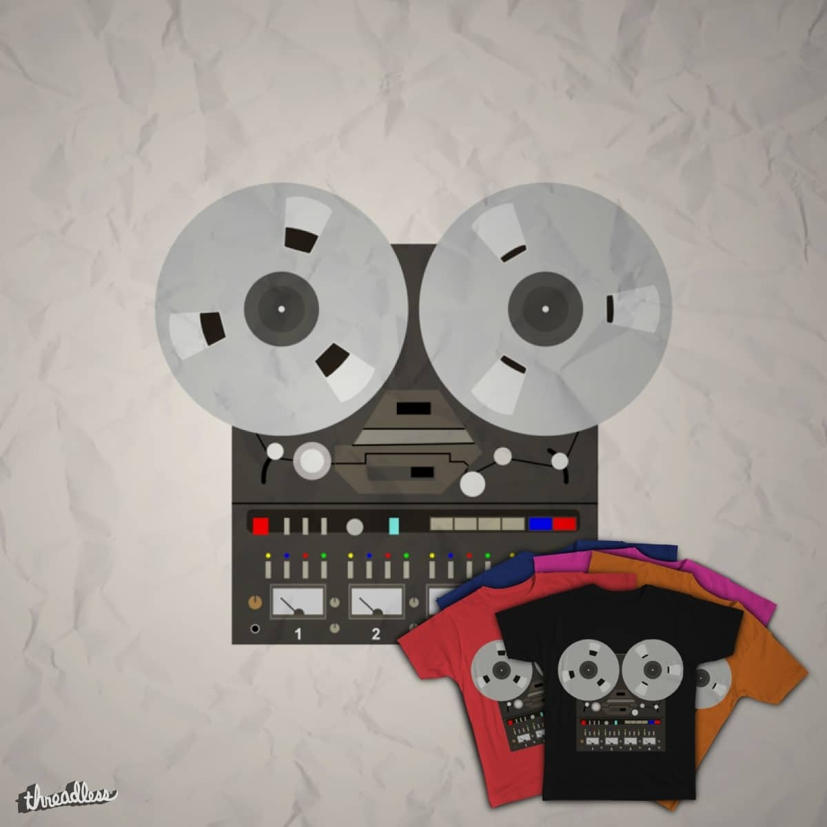 Open Reel Tape Recorder by rkrrk on Threadless