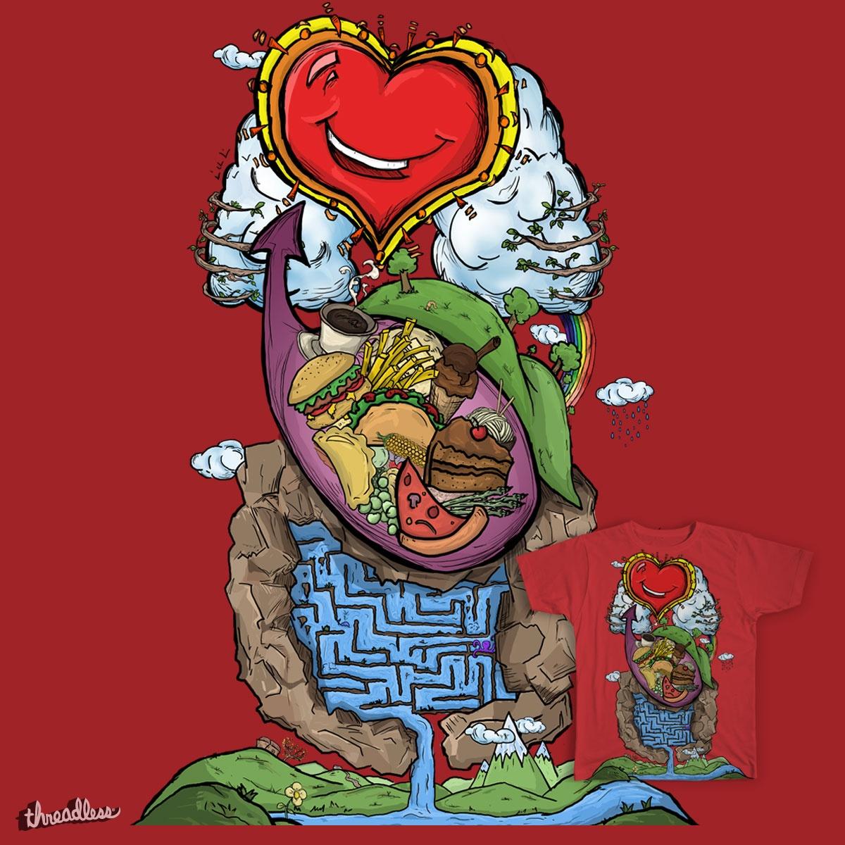 a full stomach makes a happy heart by andresgomezisaza on Threadless