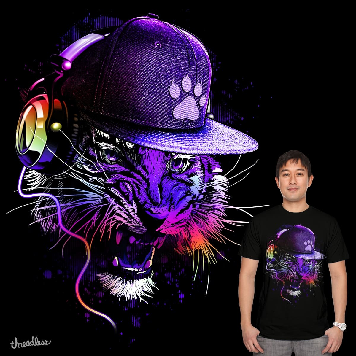 Dj Tiger by chingmoncheng on Threadless