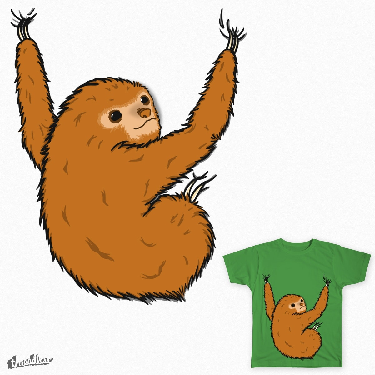 Hug the sloth! by cross7fu on Threadless