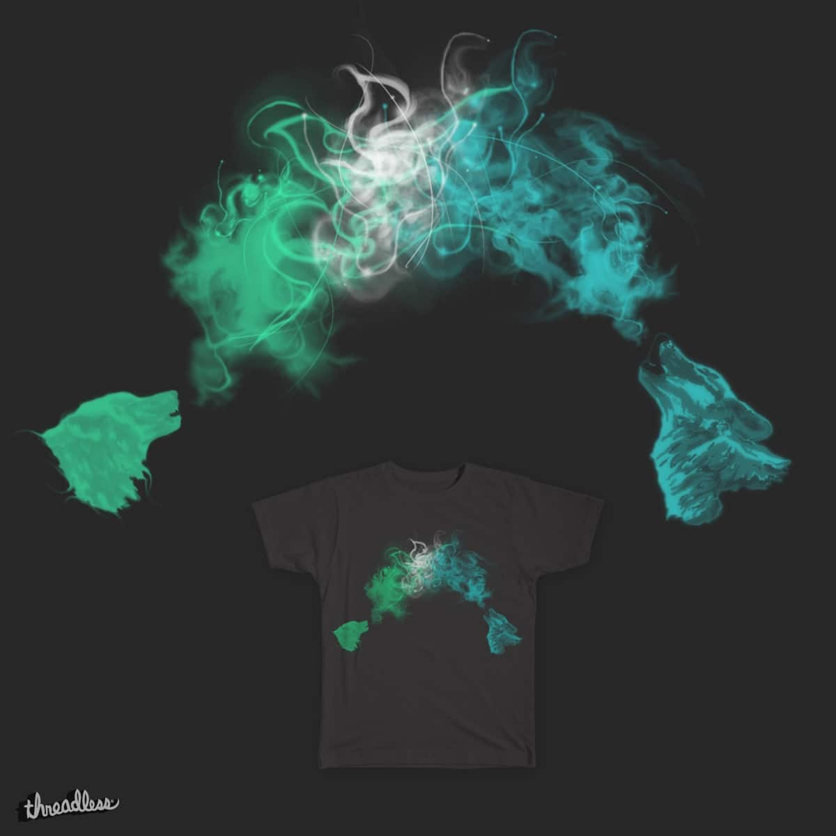 Smoky Wolves by laura.barbolini on Threadless