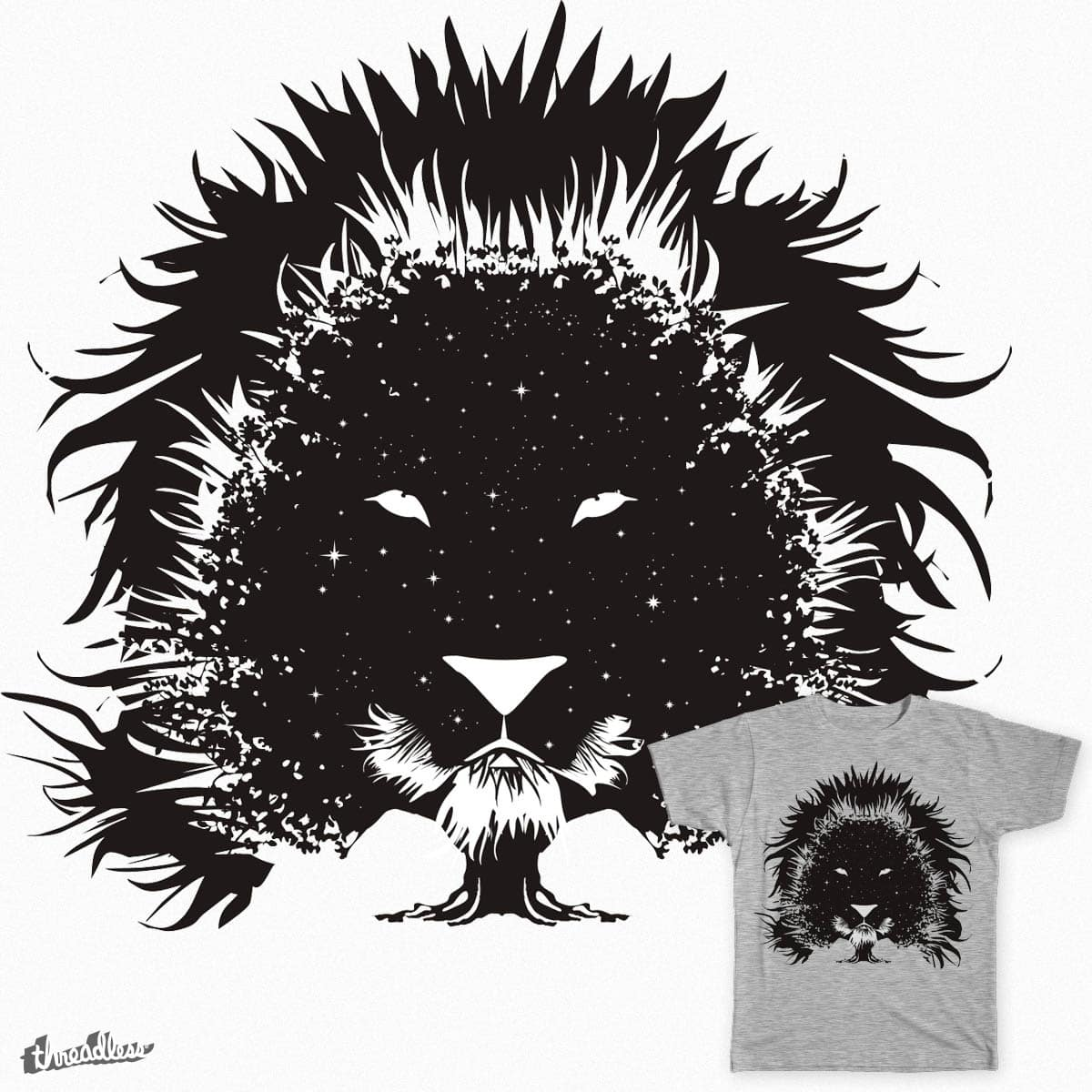 Lionstar Tree by karpol on Threadless