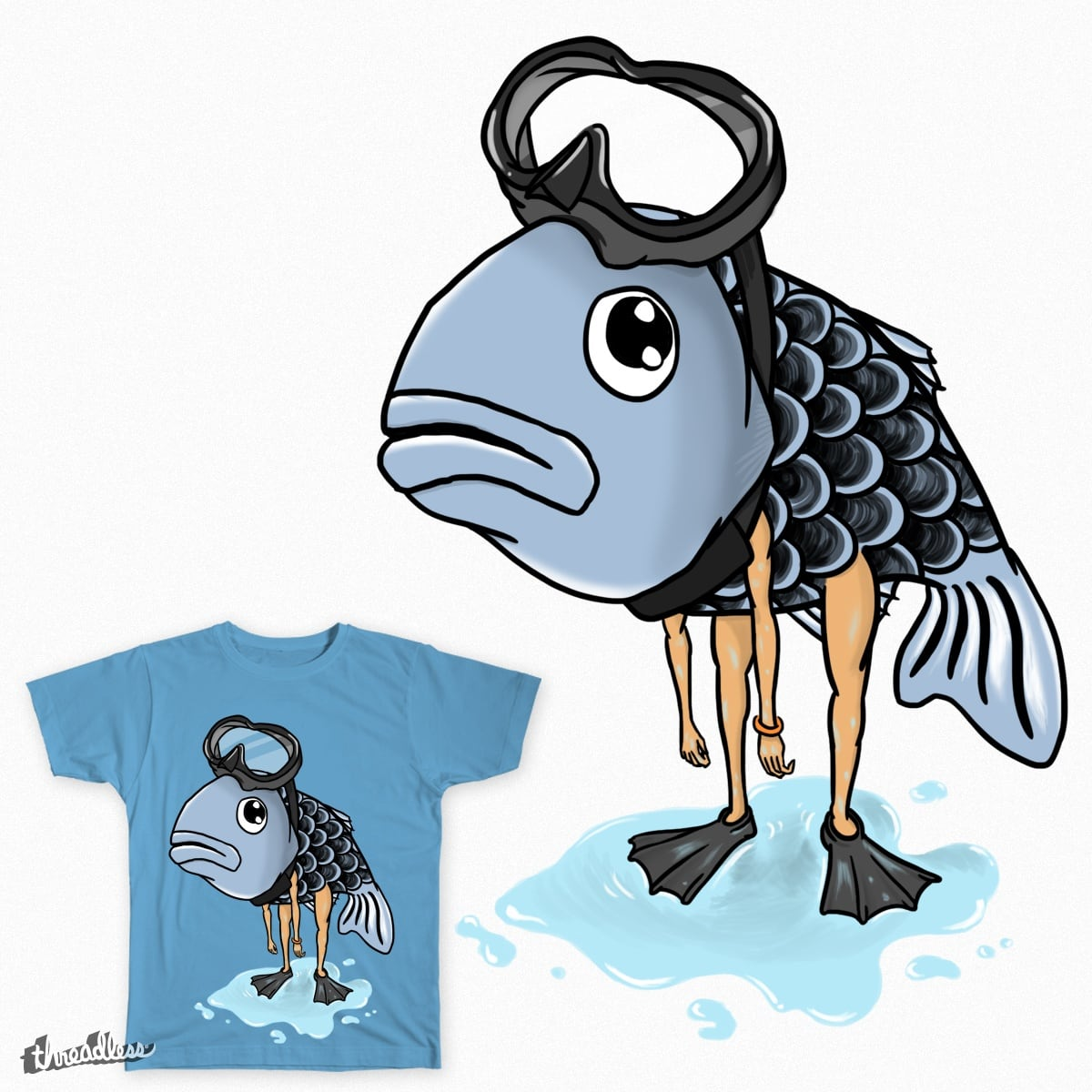 I'm the fish by cross7fu on Threadless