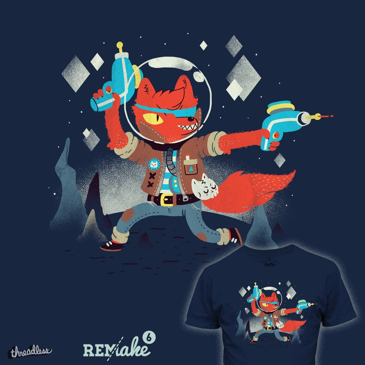 BOUNTY HUNTER SPACECATKILLA by PeculiarTiffany and otrom on Threadless
