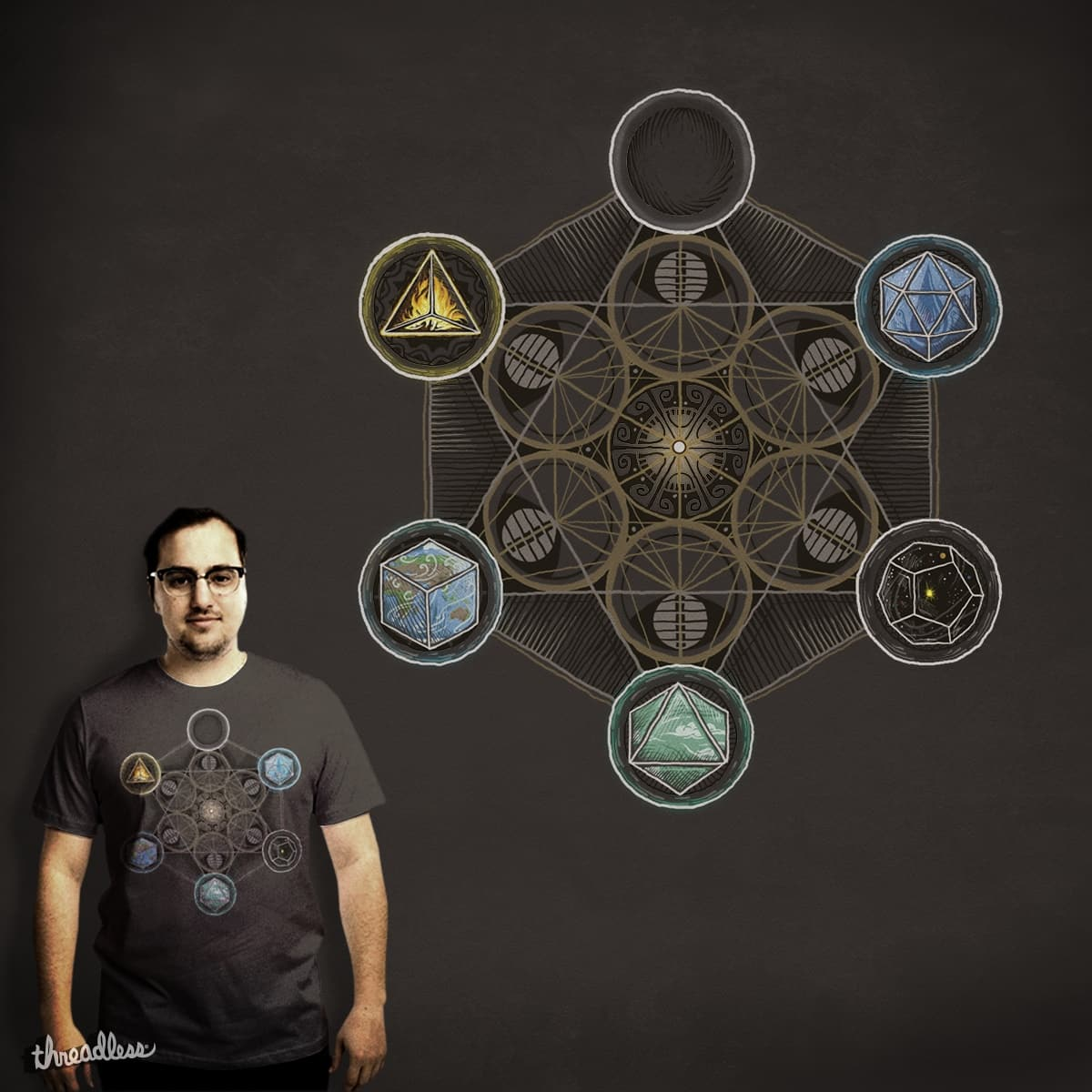 Platonic Solids by fikri on Threadless