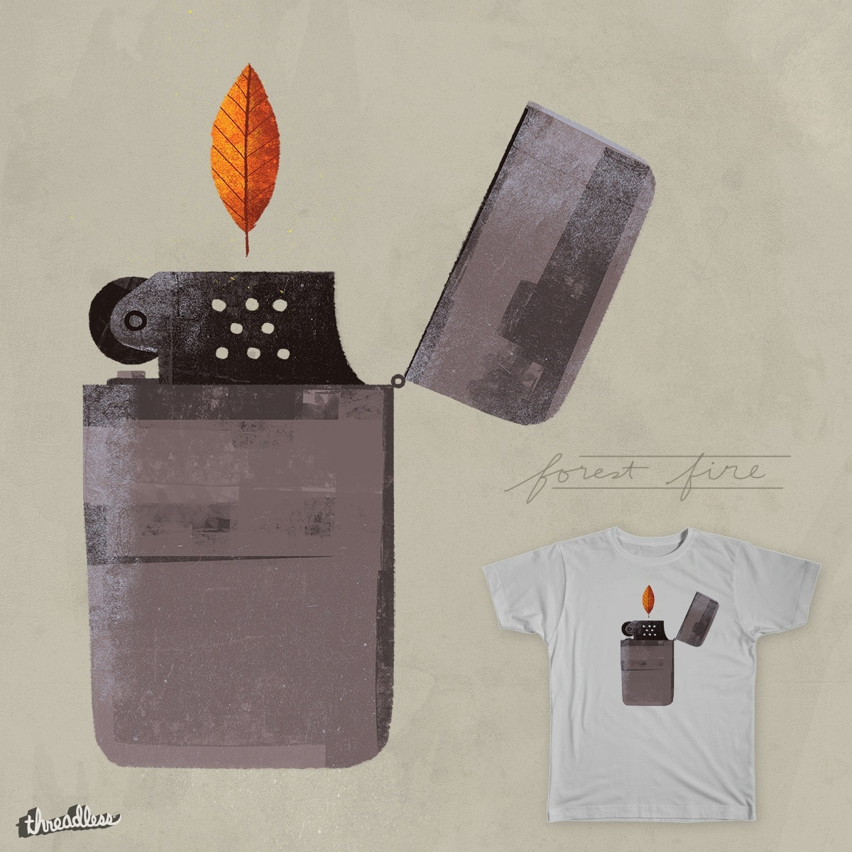 Forest Fire by HybridVigour on Threadless