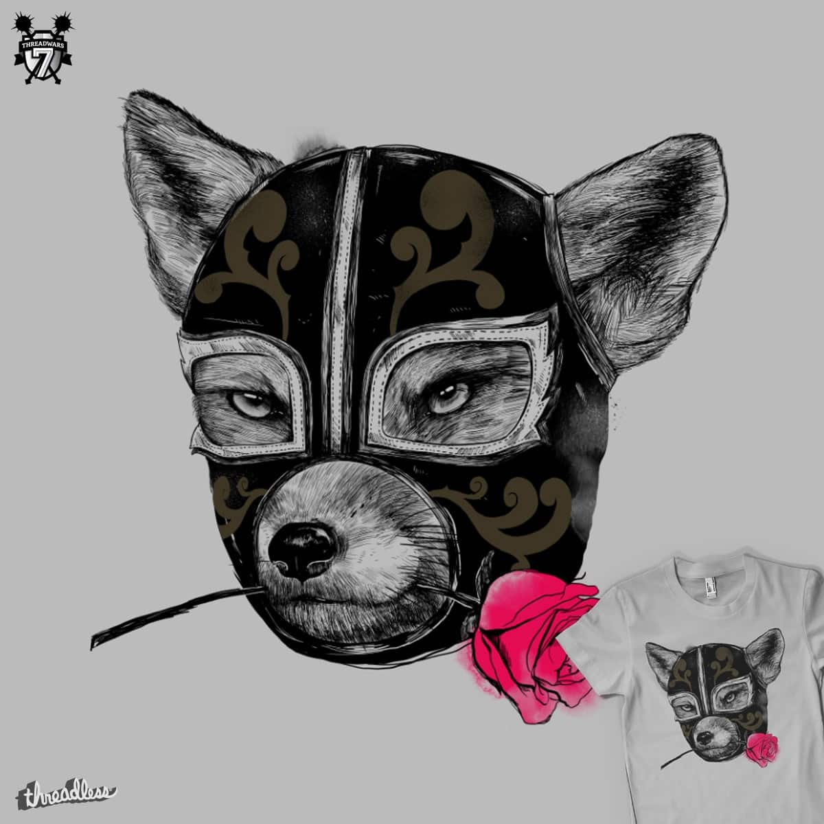 The Mask of El Zorro Luchador by MadKobra on Threadless