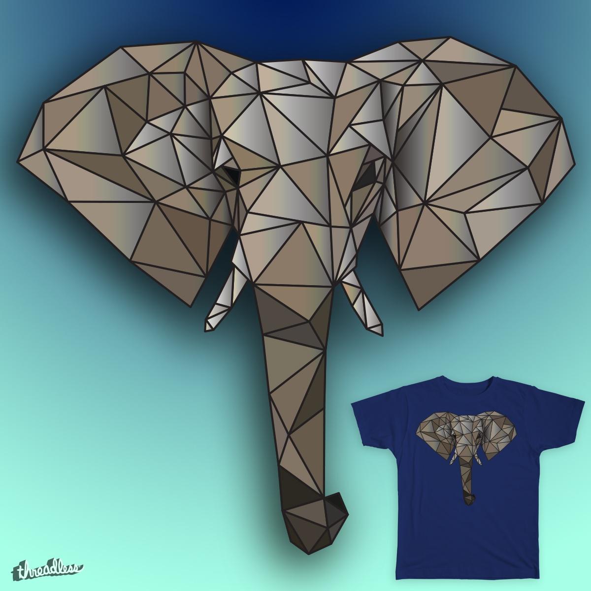 Geometric Elephant by themattdesign on Threadless