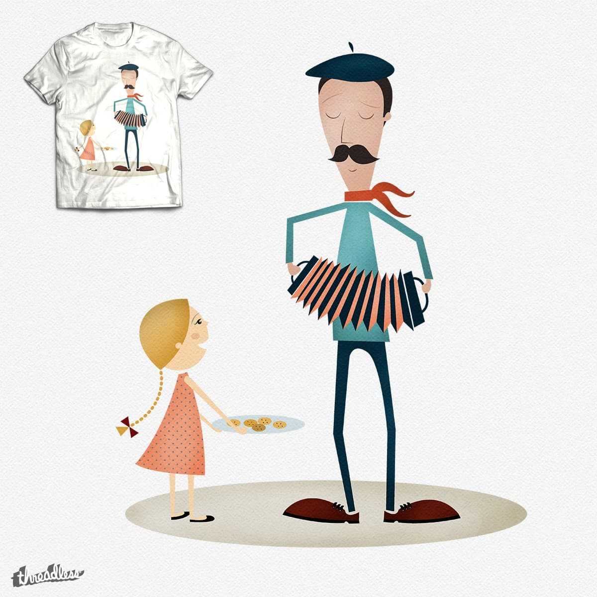 The frenchman and the biscuit by TRSC on Threadless