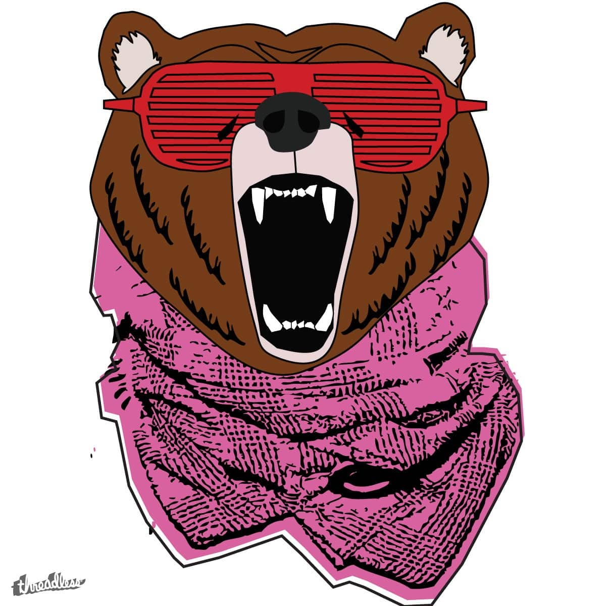 kanye bear scream  by bansom on Threadless
