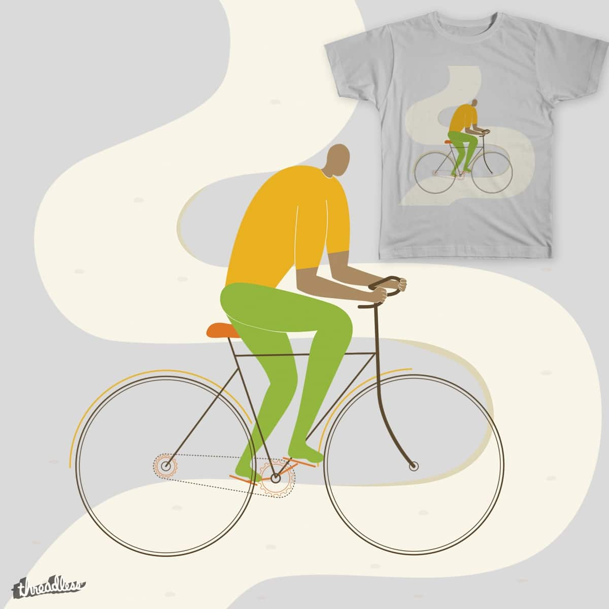 The Cyclist  by neethi on Threadless