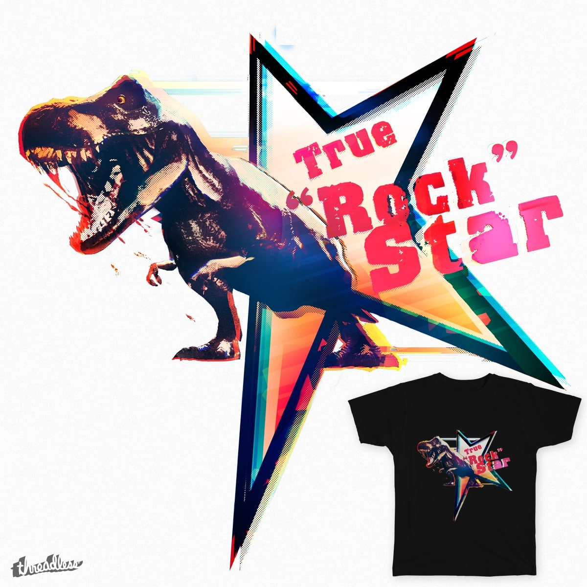 "True ""Rock"" Star by fluxcreations on Threadless"