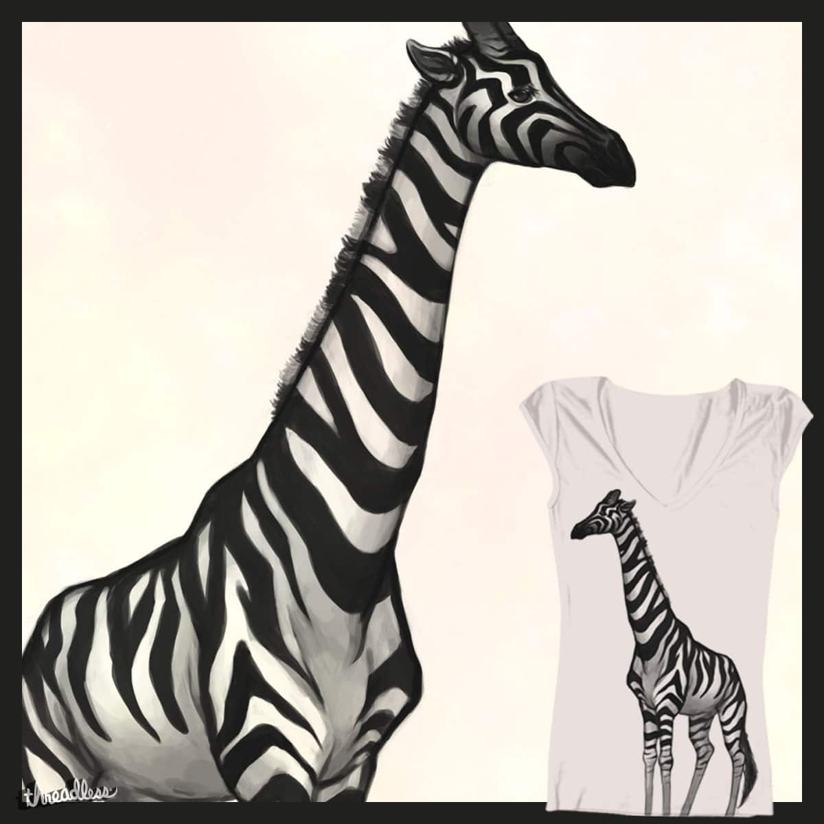 A Very Strange Zebra by Shtuts on Threadless