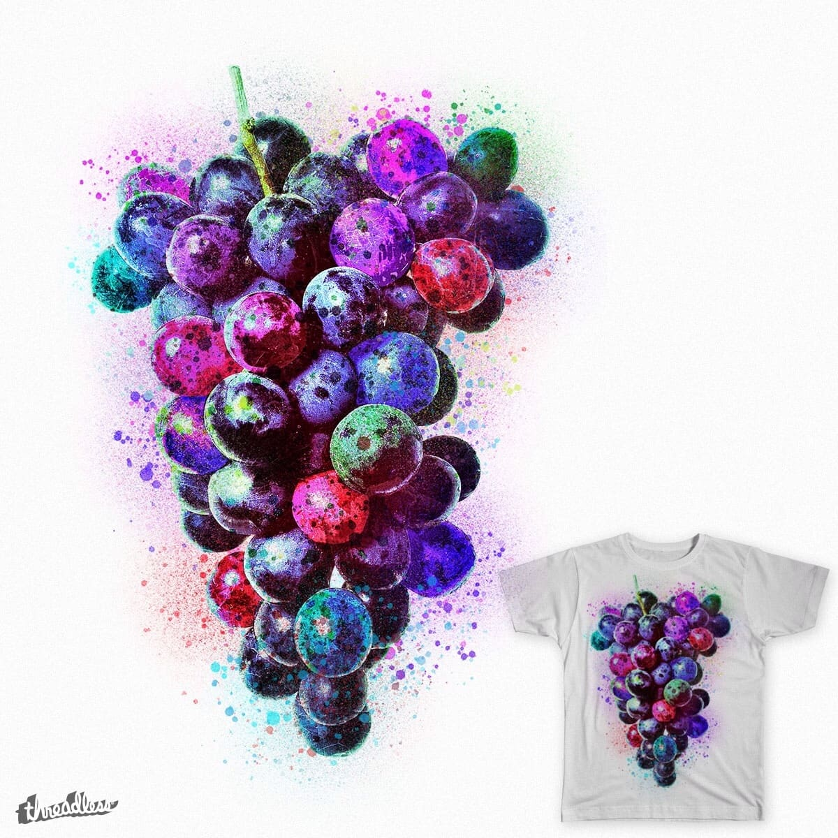 Galactic Grapes by spaceplusminus on Threadless