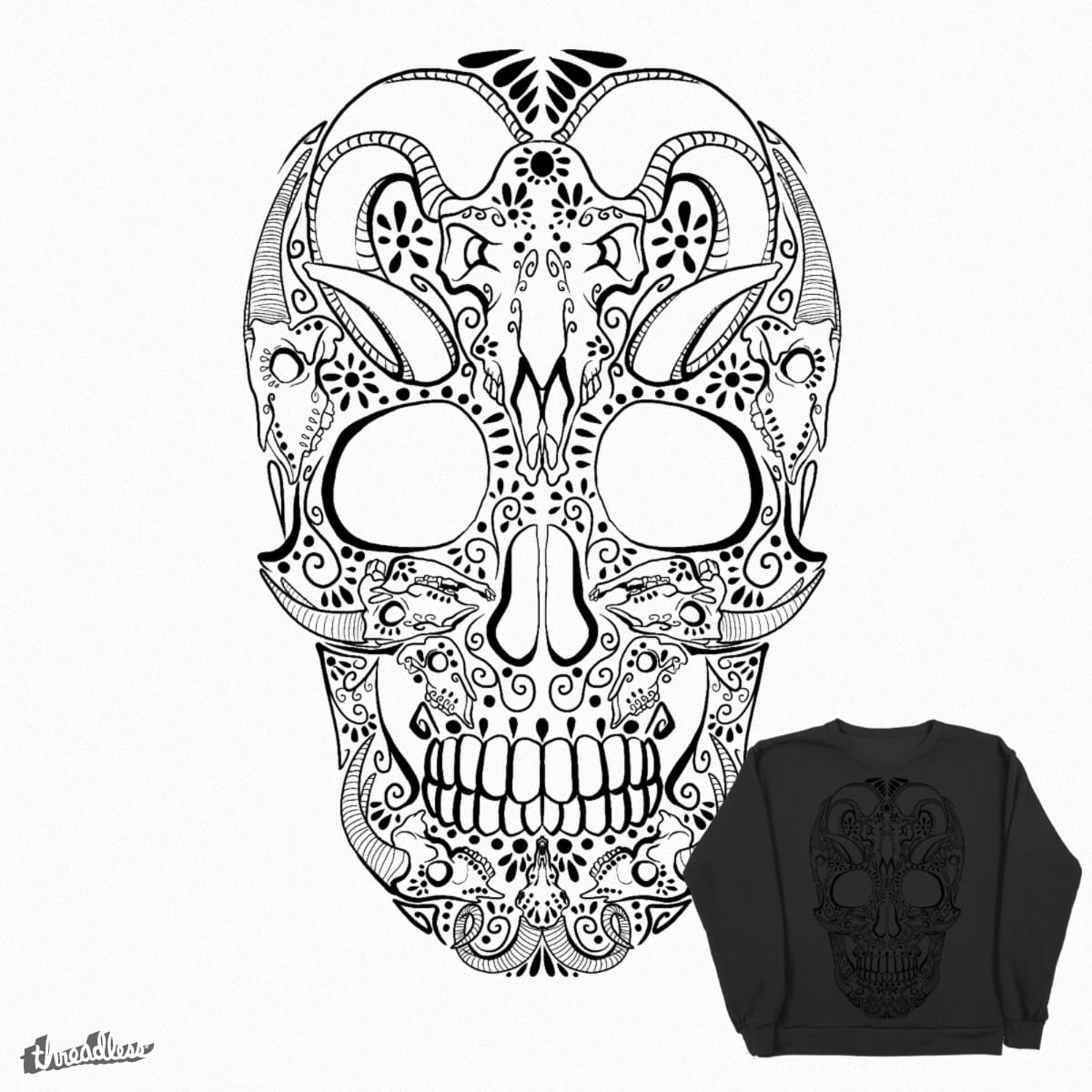 Score Mexican Skull Design Mattia Venza Threadless