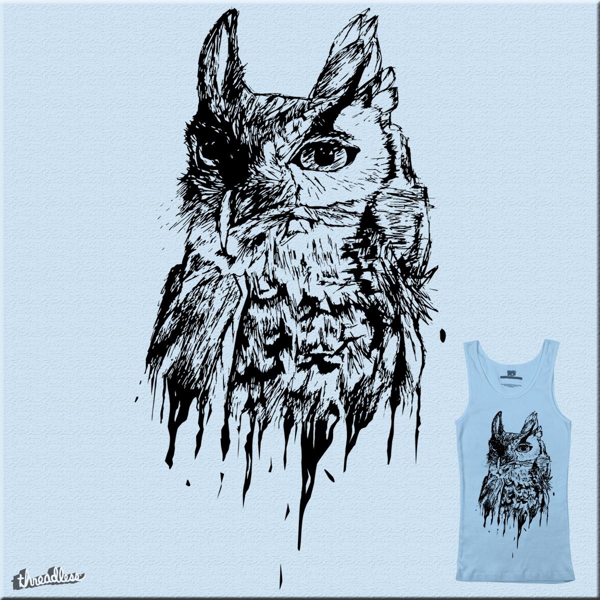 Owl Drip by erinhopkins on Threadless