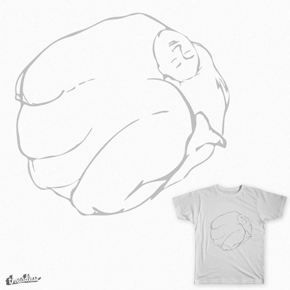 Nude in circle by Blackhill on Threadless