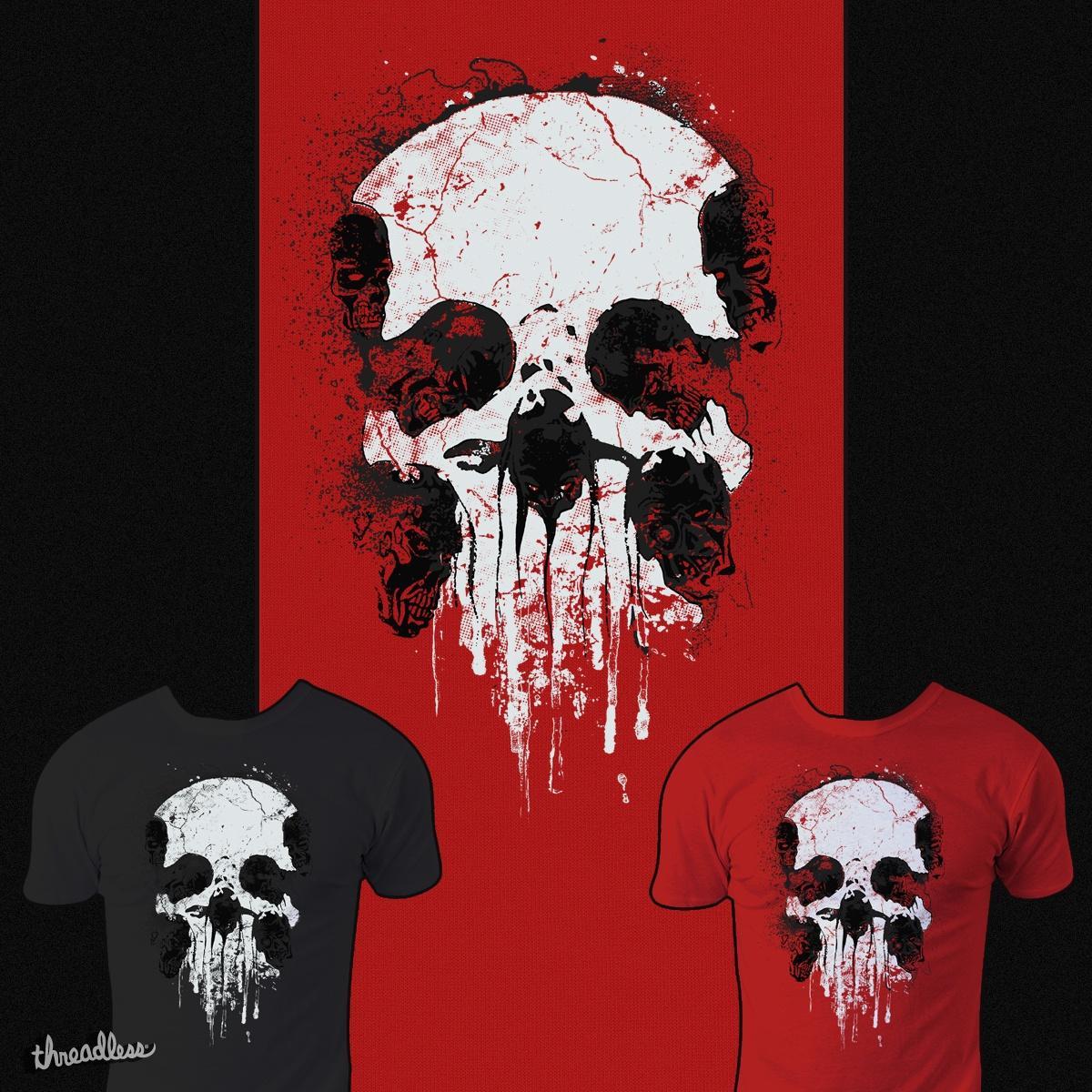 Zombies Skull by RicoMambo on Threadless