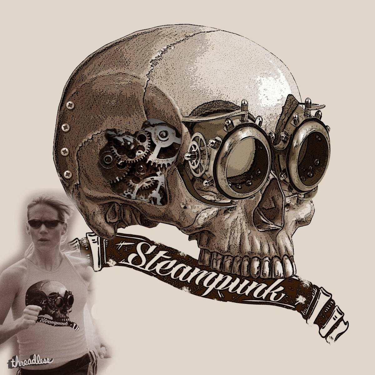 Steampunk Skull by Stenio on Threadless