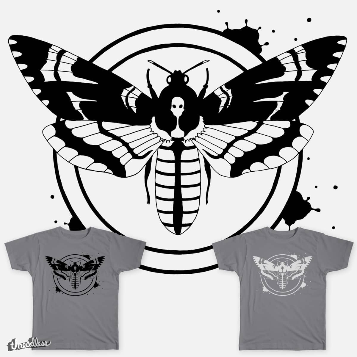 Alien's-head Hawkmoth by sunny.margaret on Threadless