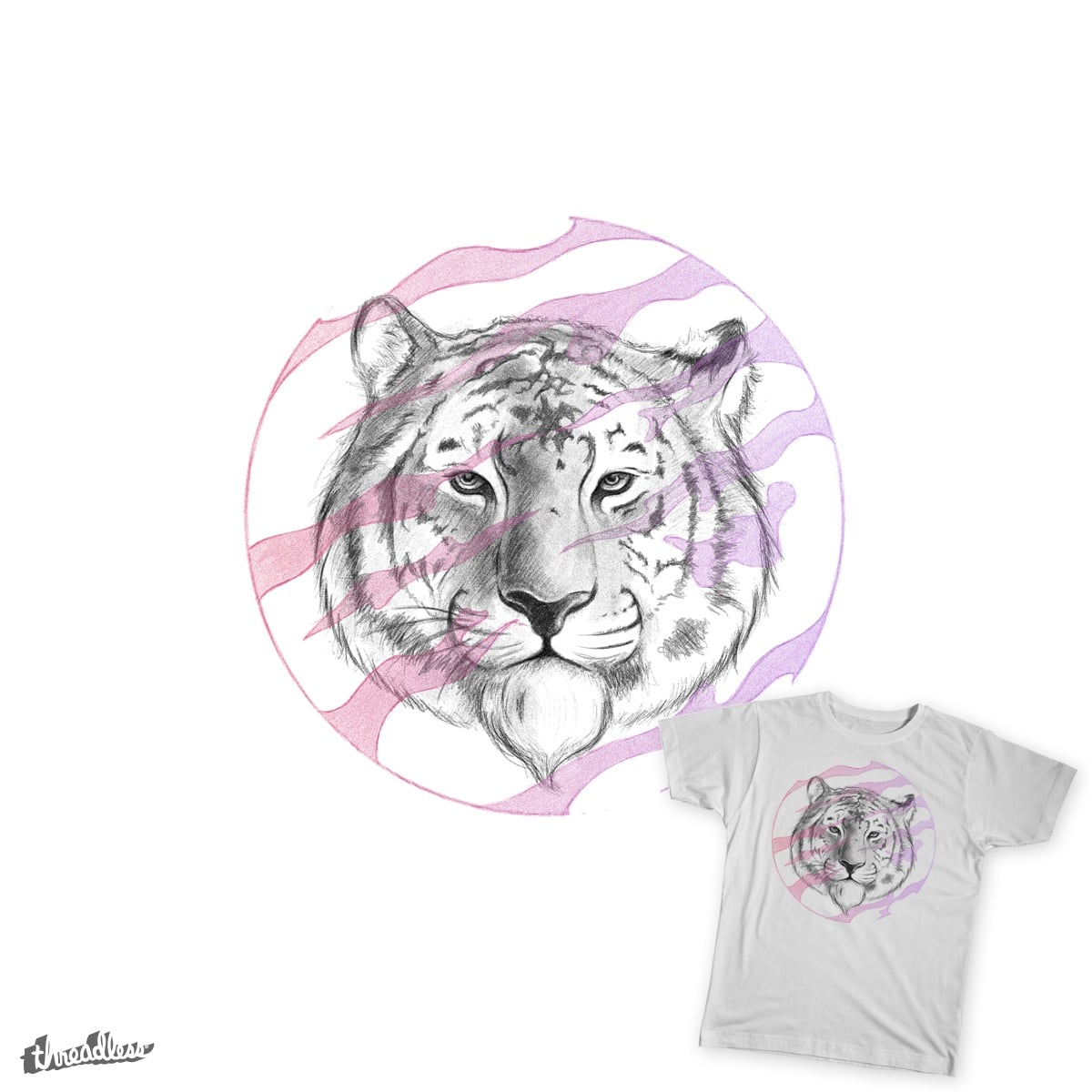 Tiger Bring on the Sun! by artistCH79 on Threadless