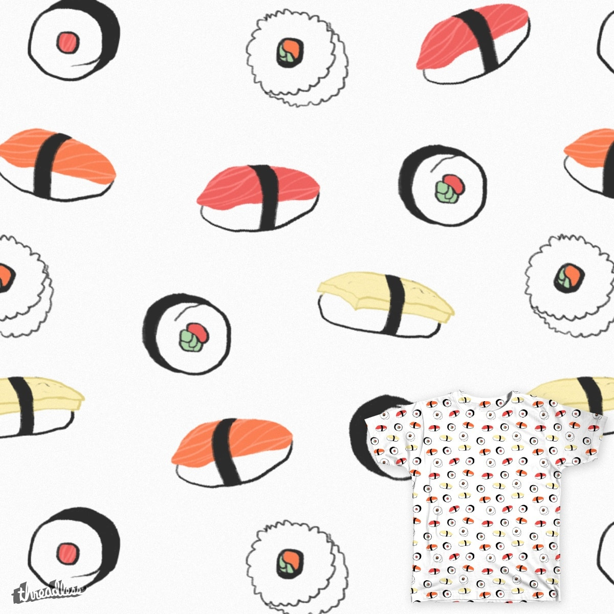Sushi by nixelpixel on Threadless