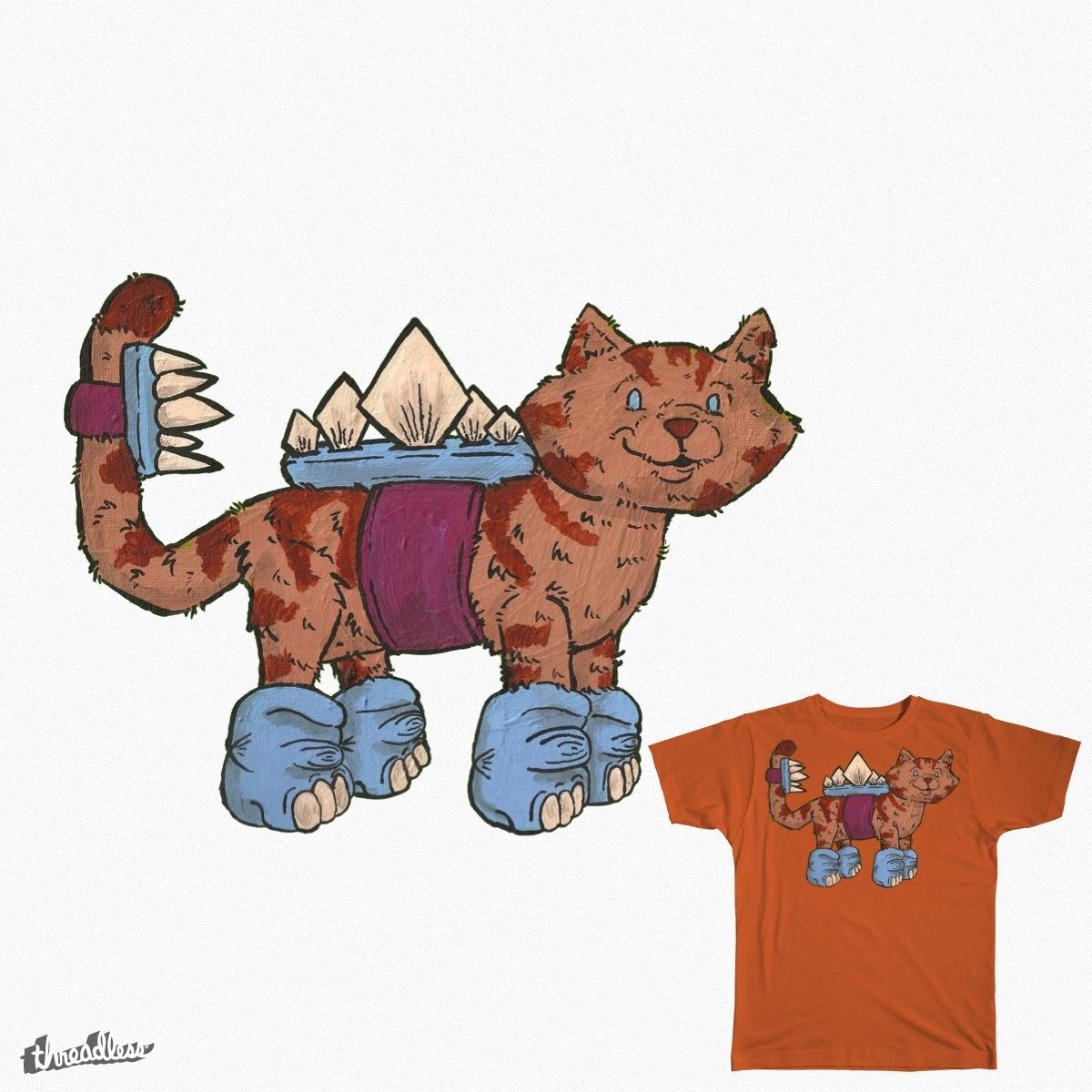 """""""Wanna Bes"""": """"Kitty Wanna Be Stegosaurus""""  by North.Massaro on Threadless"""