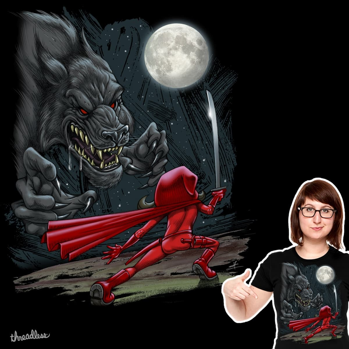Lil' Red in the Wrong Hood 2 by JChuppe on Threadless