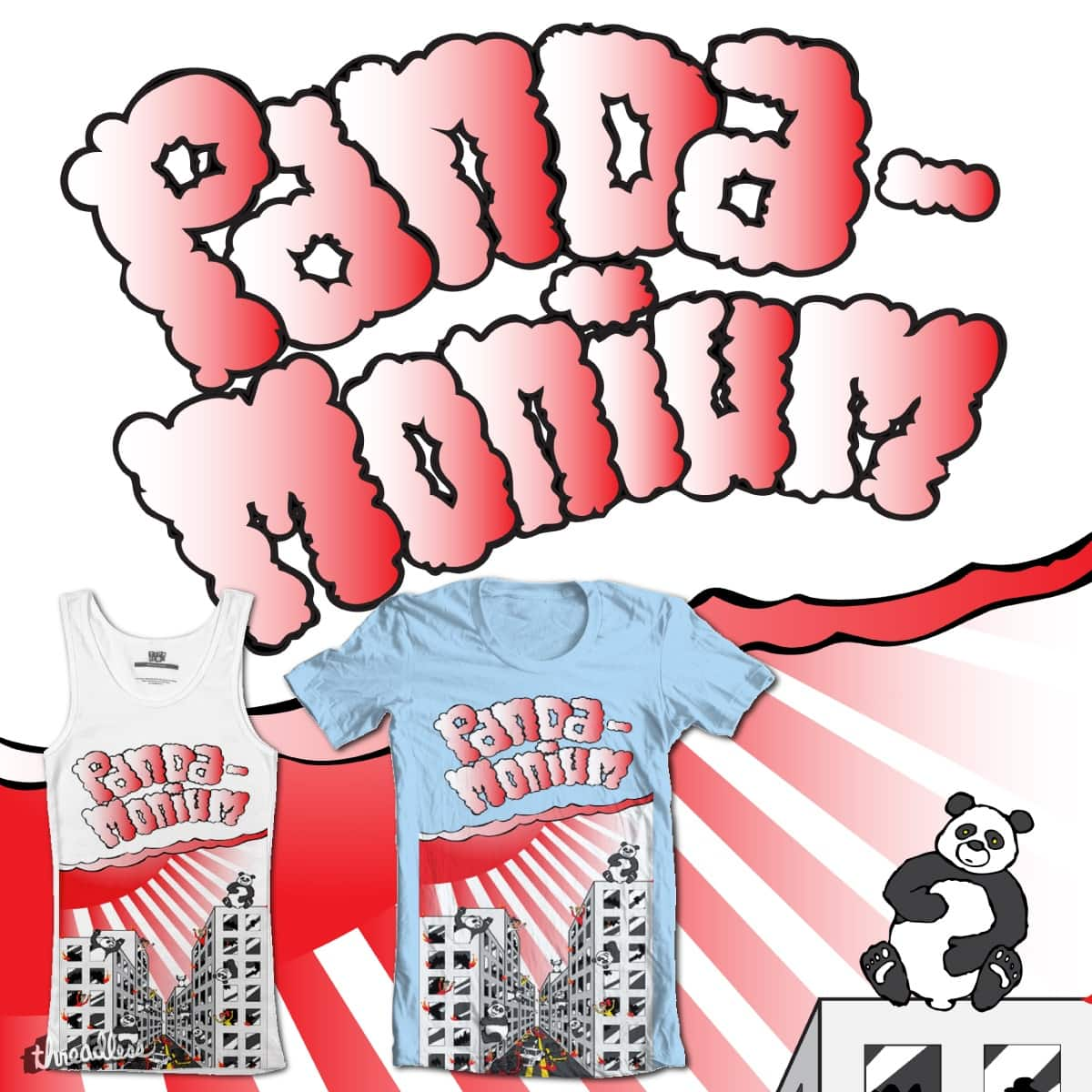 Panda-Monium by RyanKozar on Threadless