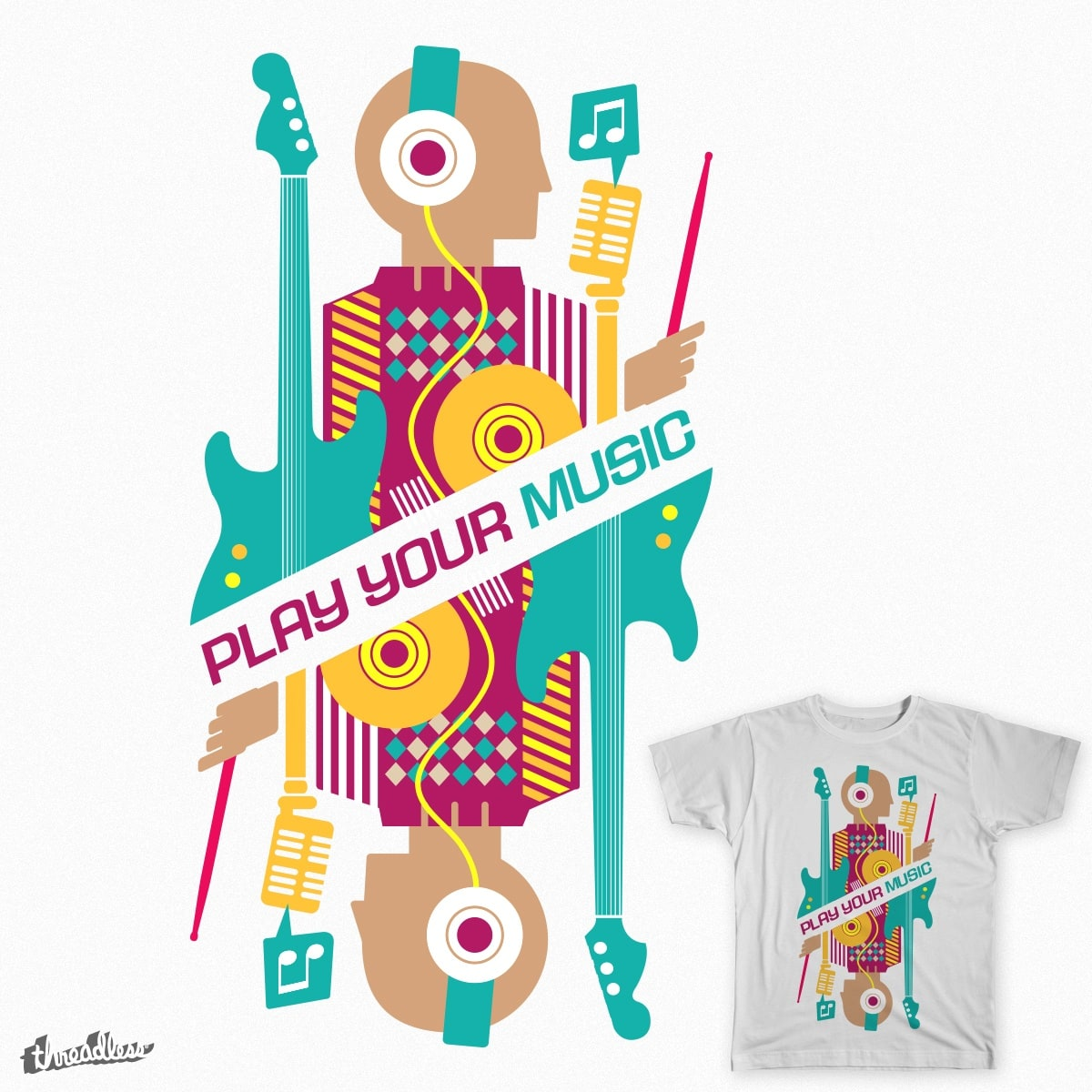 Play Your Music by felixphi on Threadless