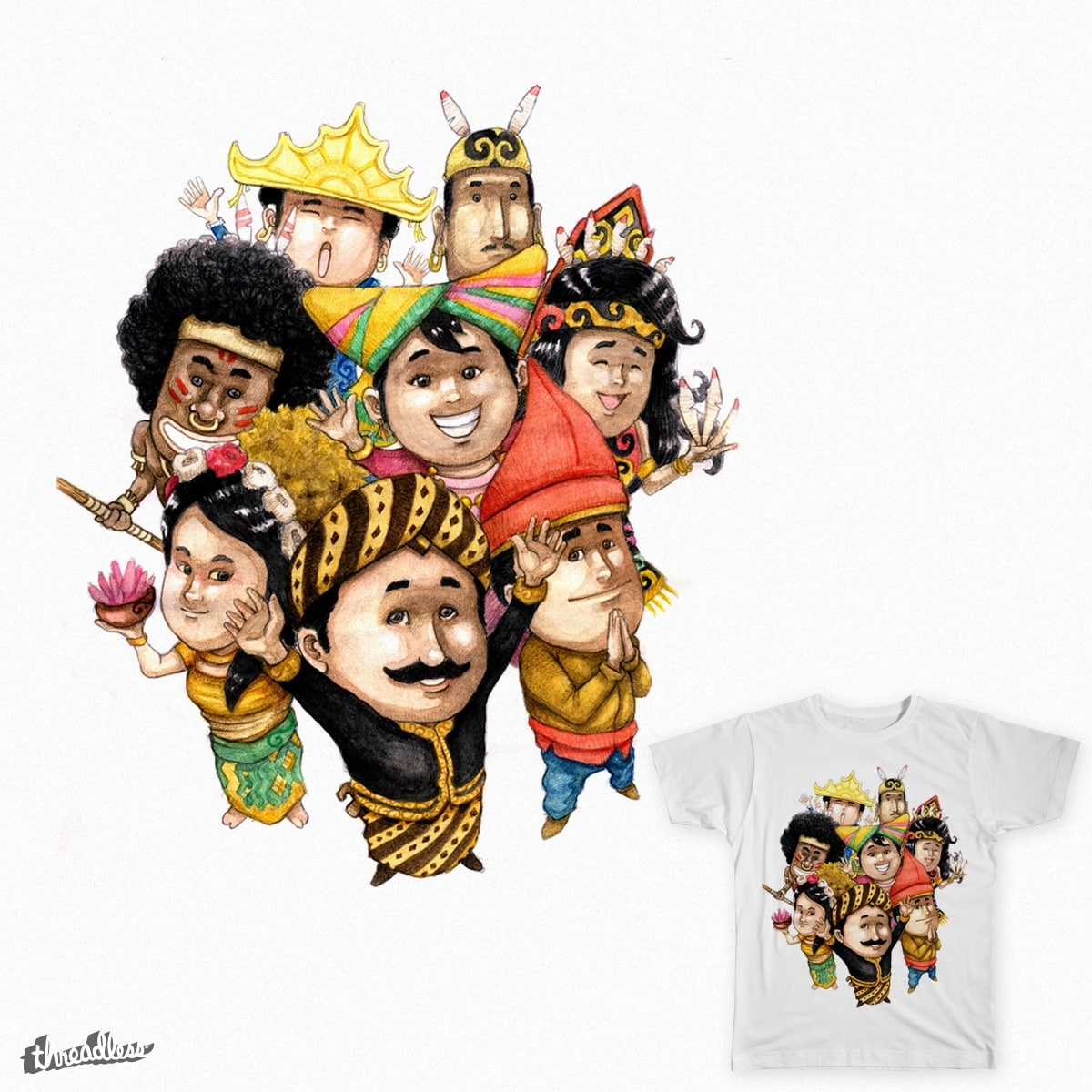 Indonesia by felixphi on Threadless