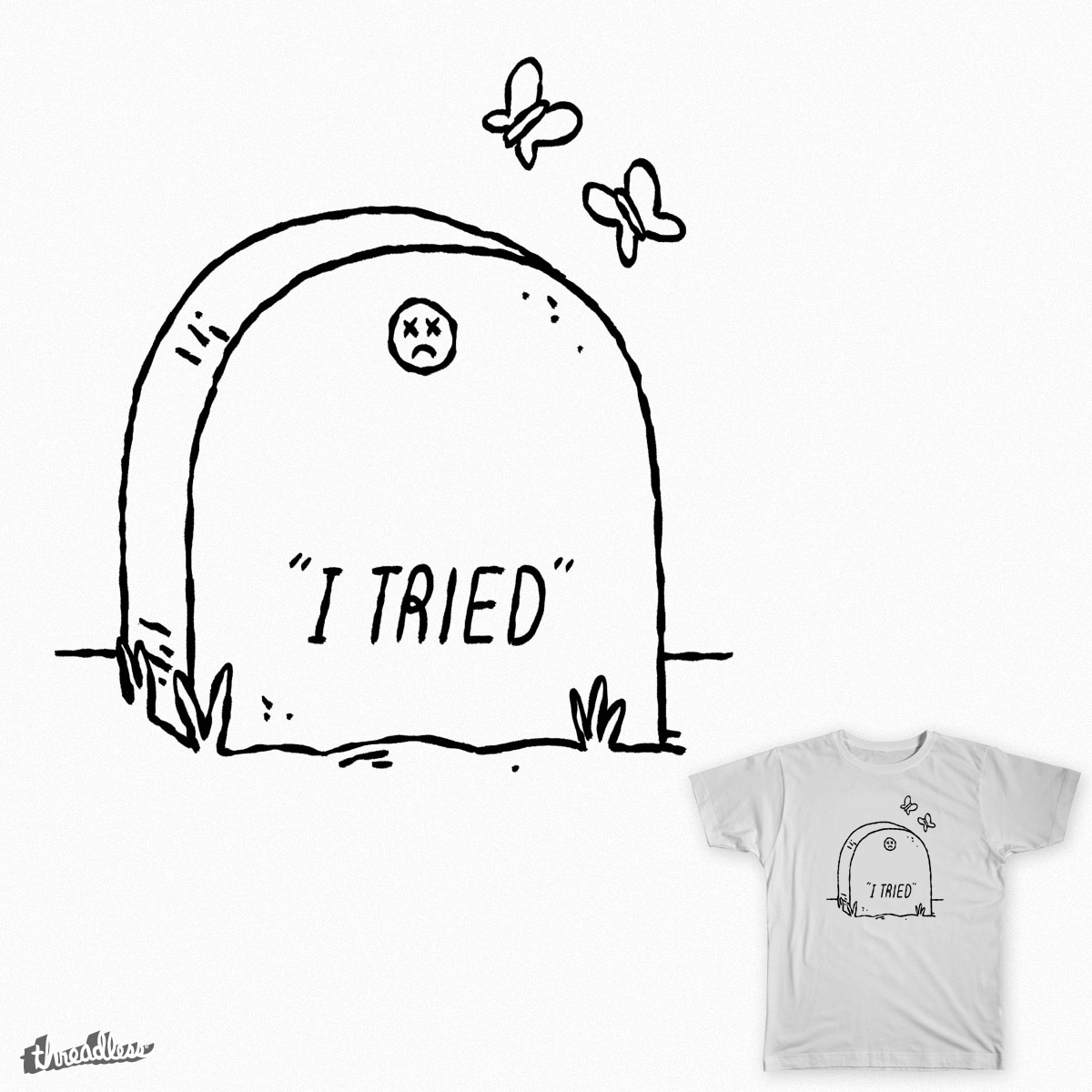 die trying by mike bautista on Threadless