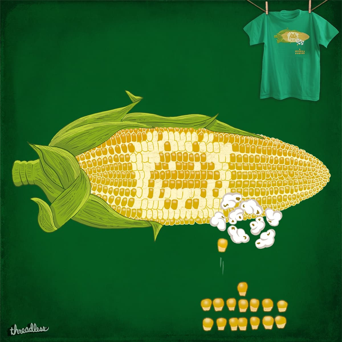 Corn Invander by Eddy_cz on Threadless