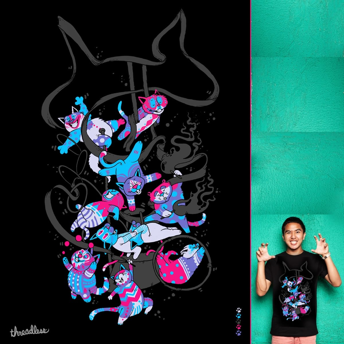 CatsDuSoleil by anwarrafiee on Threadless