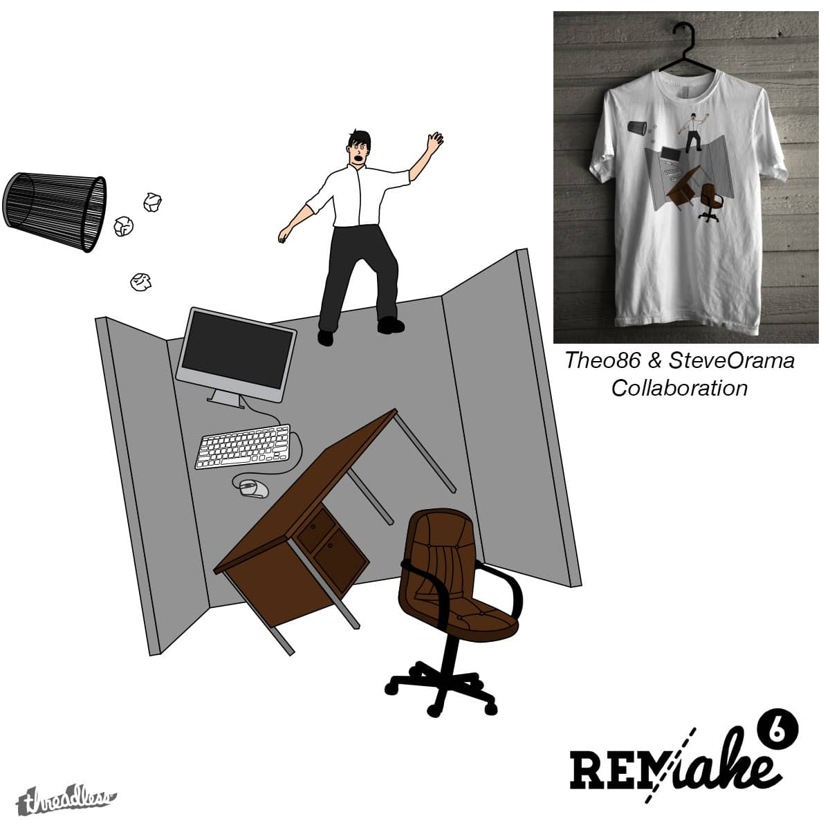 CUBICLE CATASTROPHE by Theo86 and SteveOramA on Threadless