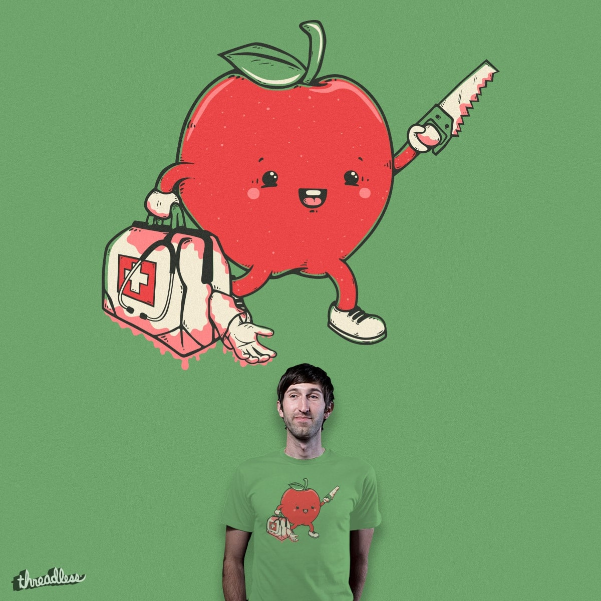 An apple keeps the doctor away by Robo Rat on Threadless
