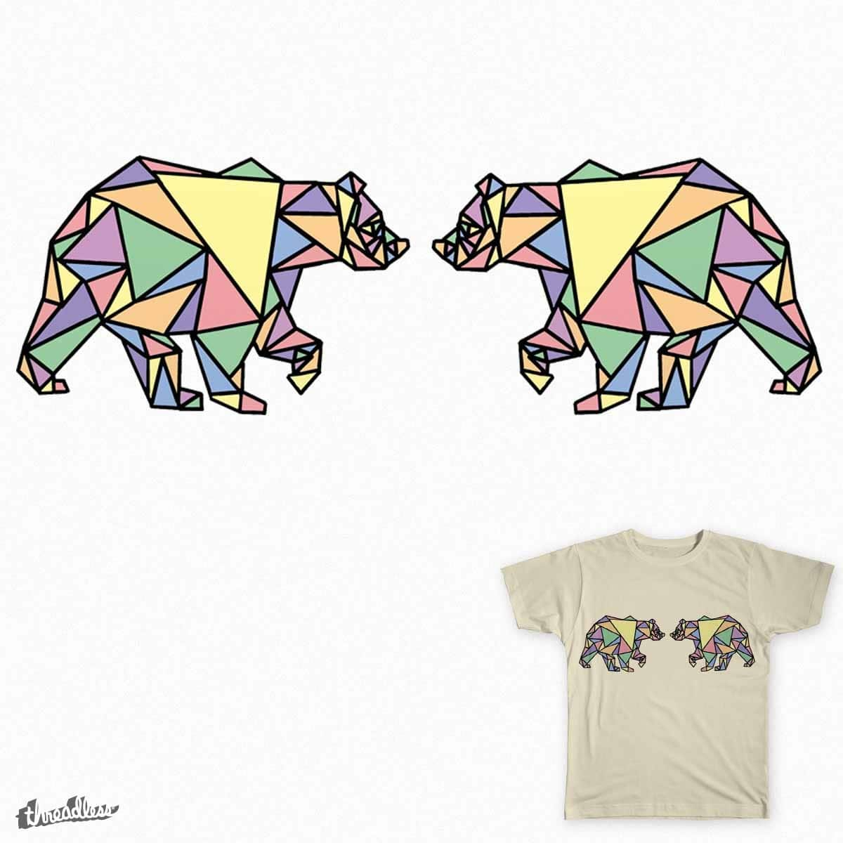Geometric Bear by kylabox on Threadless