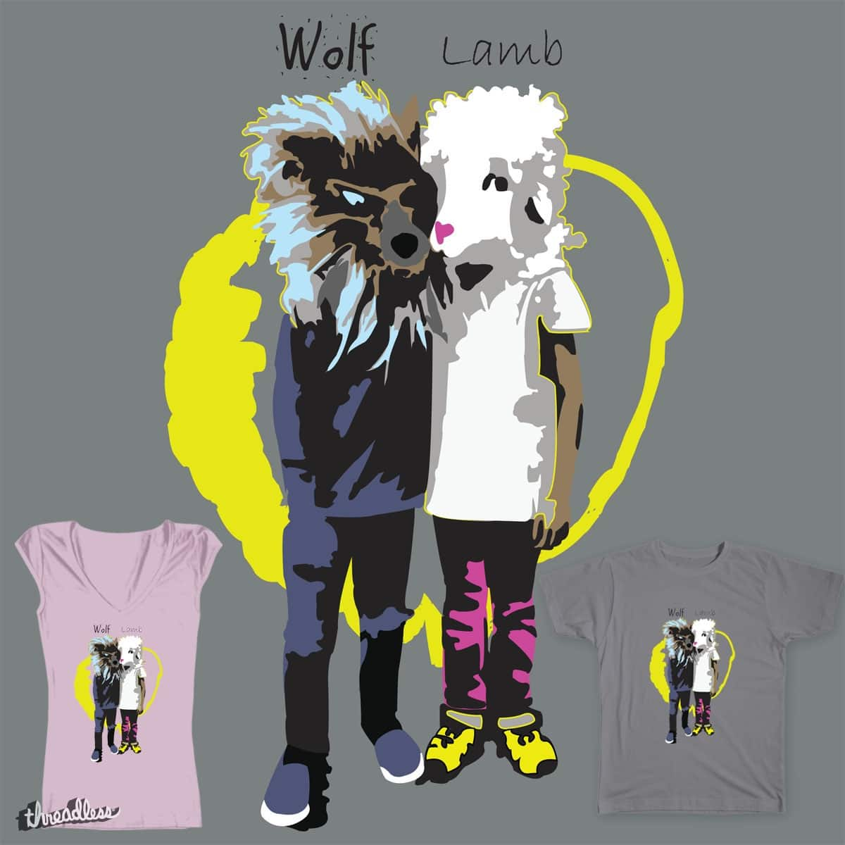 Wolf Lamb by virtu88 on Threadless